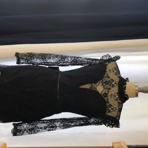 Beautiful  jet black lace mini dress